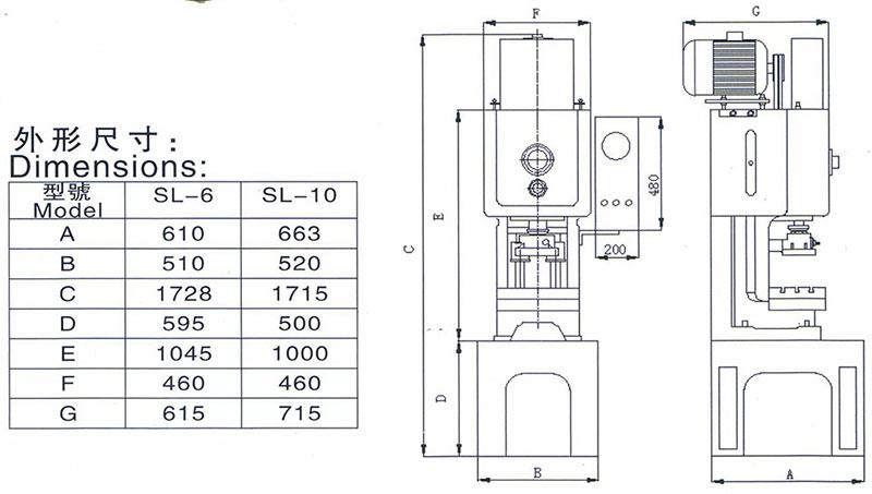 小型高速冲床外型尺寸,小吨位高速冲床外观,10T超高速冲床3D图